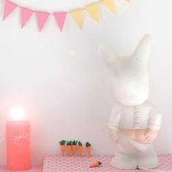 baby lapin lampe, weiss