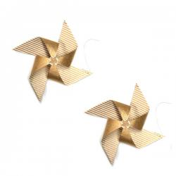 2er set papier-propeller, gold
