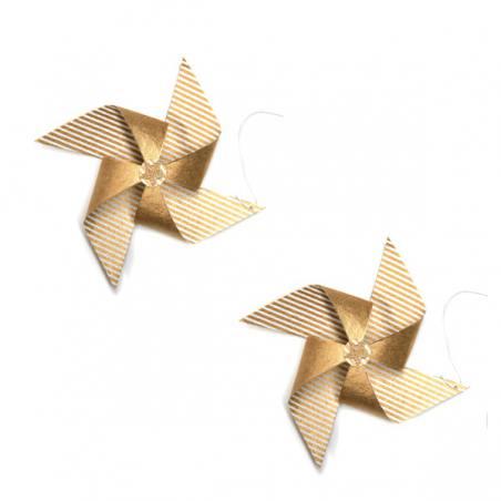 2er set papier-propeller, gold
