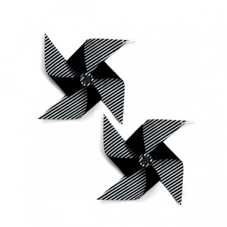2er set papier-propeller, schwarz