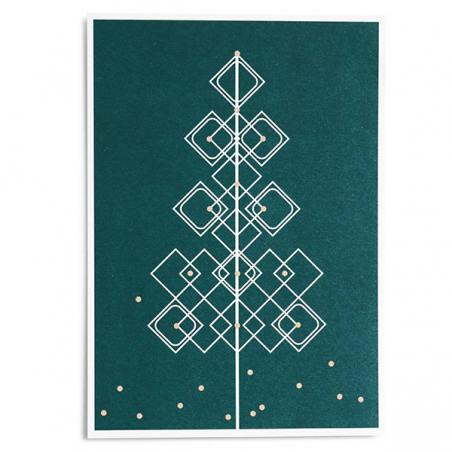 """maibaum"" postkarte, grün"