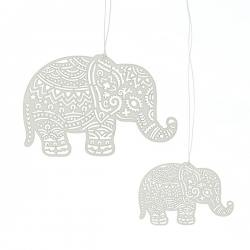 2er set papierhänger, elephants