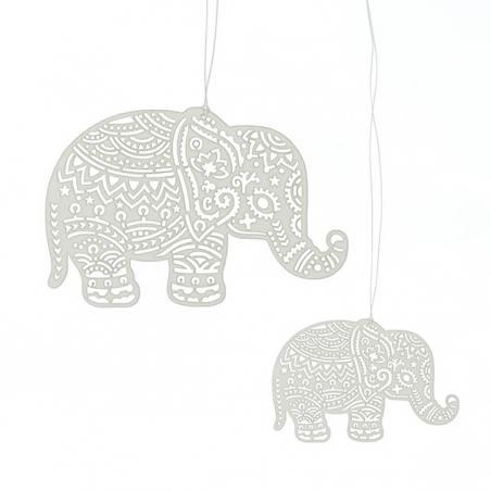 2er set papierhänger, elephants