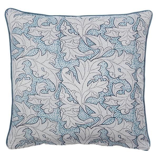 kissenhülle, flora dusty blue