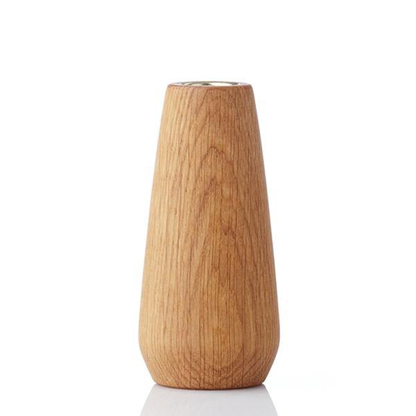torso, vase eiche geölt 12cm