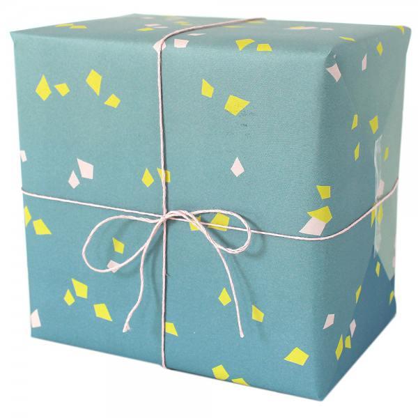 "papier ""konfetti"" blau-gelb"