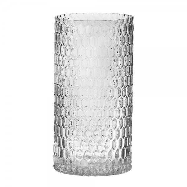 glaslicht/ vase, diamond klarglas 30 cm