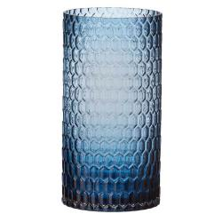 glaslicht/ vase, diamond blau 30 cm