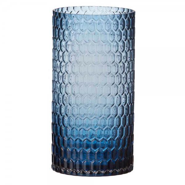 glaslicht/ vase, diamond blau 30 cm