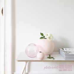 glas ballvase, rosa