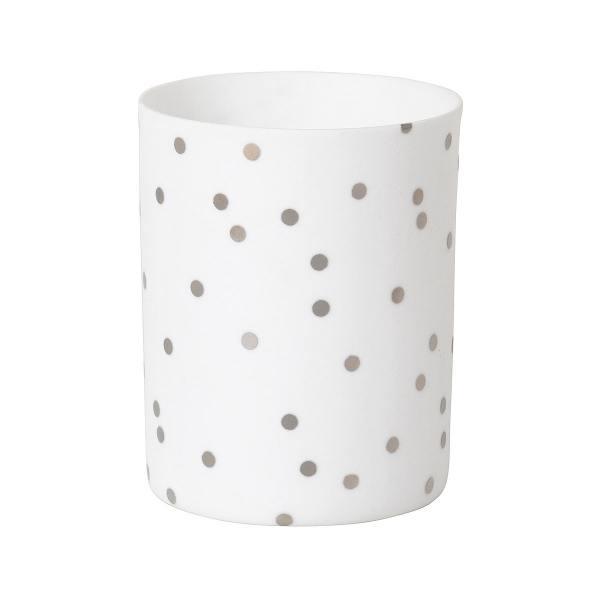 """keramiklicht, """"snow"""" mit silbernen punkten"""