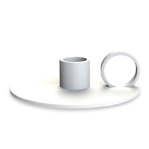 cooee design kerzenhalter loop weiss wunderschoen-gemacht