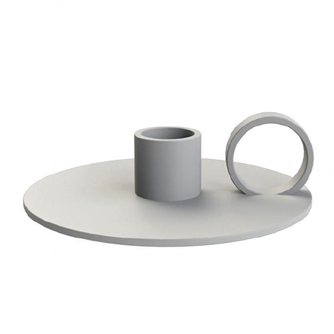 cooee design kerzenhalter loop grau wunderschoen-gemacht