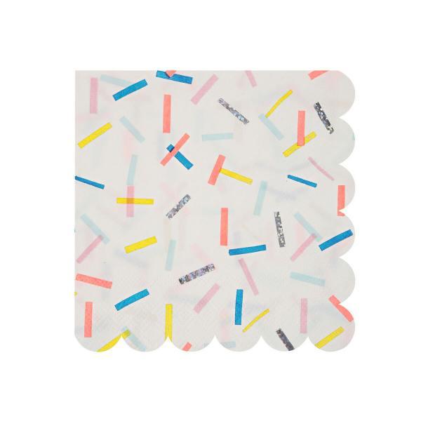 meri meri papierservietten sprinkles Konfetti wunderschoen-gemacht