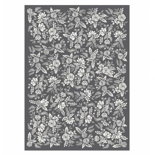 rifle paper co geschenkpapiere floral blumen und blueten graphite lace grau weiss wunderschoen-gemacht