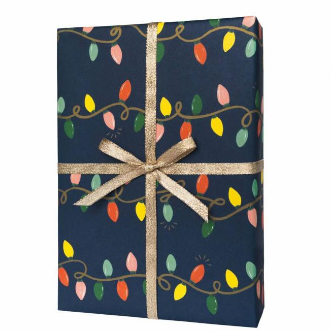 rifle paper co geschenkpapiere  holiday lights bunte lichterketten wunderschoen-gemacht