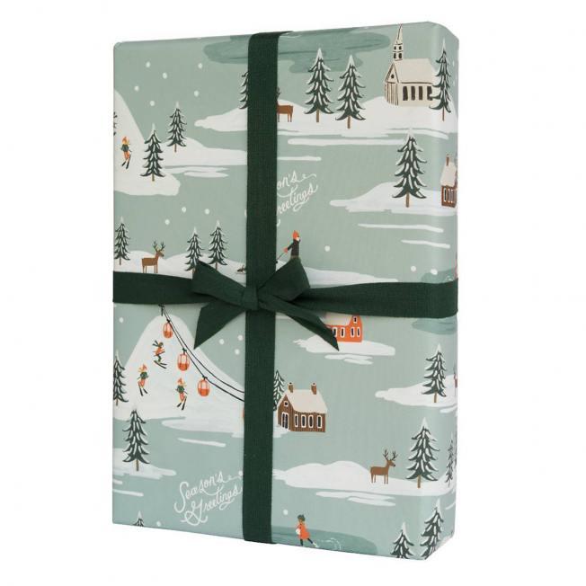 rifle paper co geschenkpapiere  holiday snow scene wunderschoen-gemacht