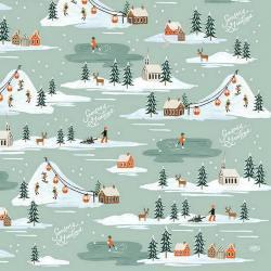 rifle paper co geschenkpapiere  holiday snow scene winterlandschaft wunderschoen-gemacht