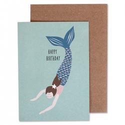 ava und yves klappkarten meerjungfrauen happy birthday wunderschoen-gemacht