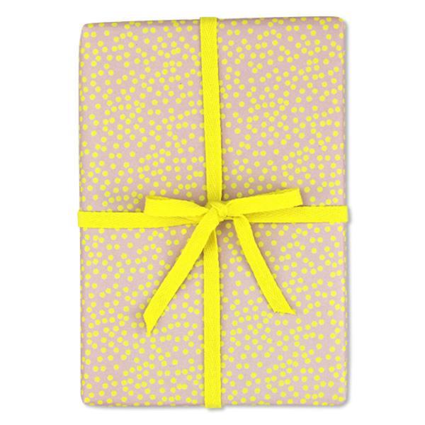 ava und yves geschenkpapiere  punkte rosa gelb wunderschoen-gemacht