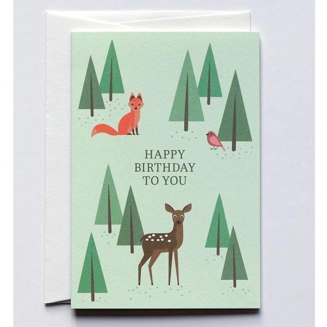 haferkorn & sauerbrey grusskarten bambi und fox fuchs wunderschoen-gemacht