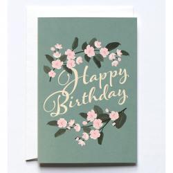 haferkorn & sauerbrey grusskarten pink blossoms rosa blüten happy birthday  wunderschoen-gemacht