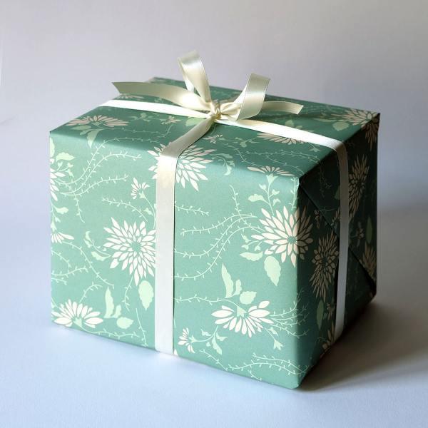 haferkorn & sauerbrey papiere water lily seerosen mint wunderschoen-gemacht