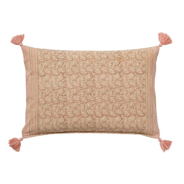 bungalow dk kissen blockprint muster rosa nisha melrose wunderschoen-gemacht