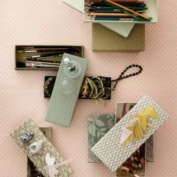 bungalow dk pencil boxen set schachteln gruene rosa muster ayushi ivy wunderschoen-gemacht