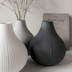 storefactory scandinavia keramik vasen ekenas mit rillen wunderschoen-gemacht