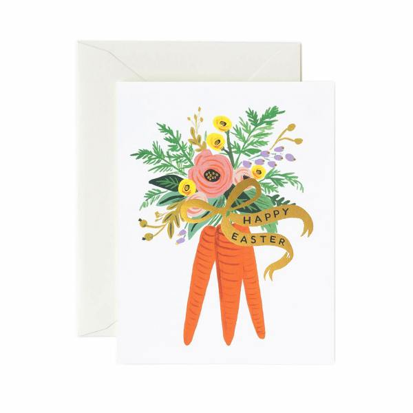 rifle paper co carrot bouquet moehren karotten strauss klappkarten wunderschoen-gemacht
