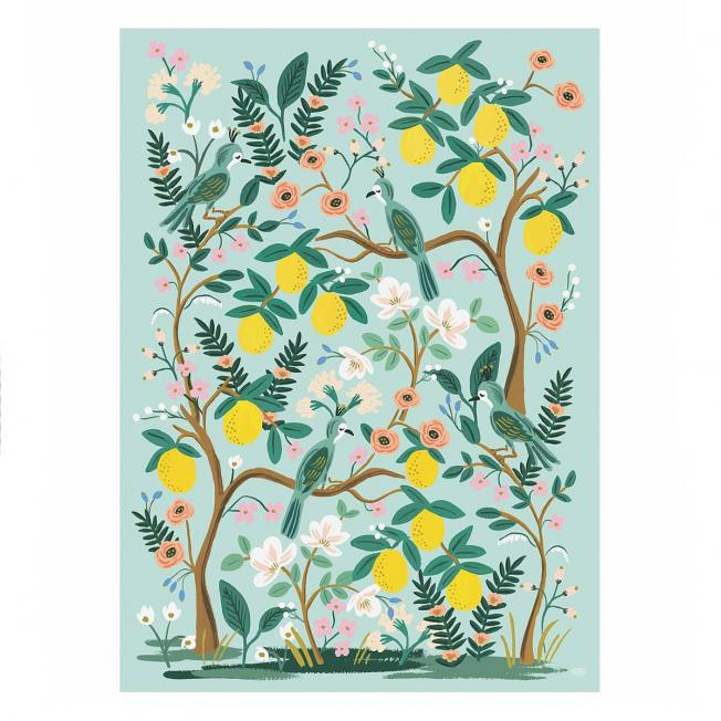 rifle paper co geschenkpapiere floral baum blumen blueten zitronen shanghai garden wunderschoen-gemacht