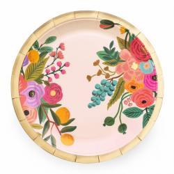 rifle paper co partygeschirr pappteller rosa blumen blueten garden party plates wunderschoen-gemacht
