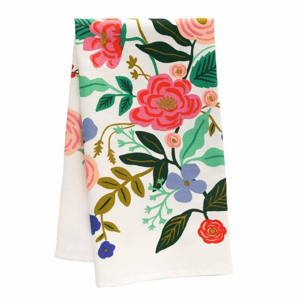 rifle paper co kuechentuch geschirrhandtuch mit blumen blueten floral vines wunderschoen gemacht
