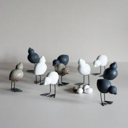 dbkd keramikvoegel easter birds weiss wunderschoen-gemacht