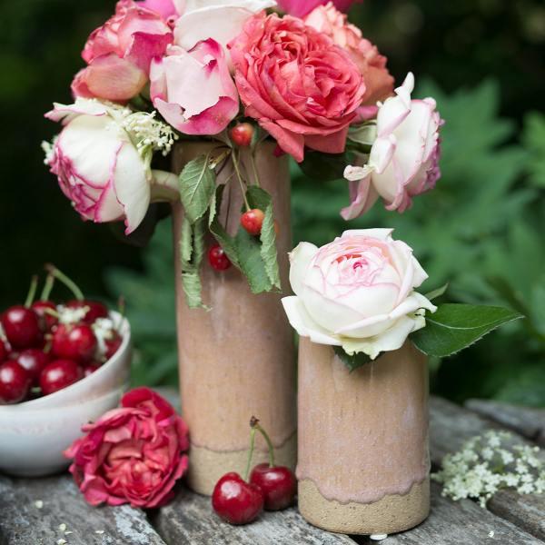 broste copenhagen keramikvase slim rosa wunderschoen-gemacht