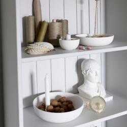 storefactory kerzenleuchter keramikschale large gross weiss wunderschoen-gemacht