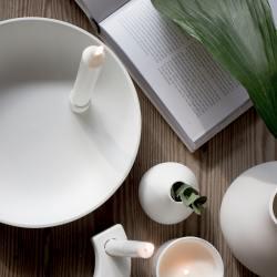 storefactory kerzenleuchter keramikschale XL gross weiss wunderschoen-gemacht