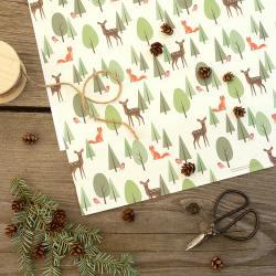 haferkorn & sauerbrey papiere  bambi & fox reh und fuchs wald wunderschoen-gemacht