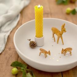 dregeno holz deko rehe bambis handgeschnitzt wunderschoen-gemacht