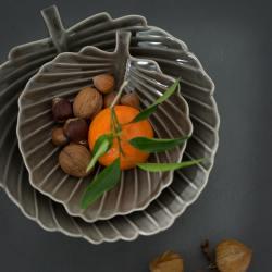 """bungalow dk Keramikschale blatt """"leaf"""" sand wunderschoen-gemacht"""