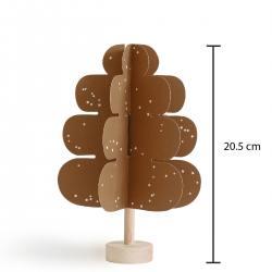 Jurianne Matter bastelset papierbaum mit holz ockergelb gold eichen oak wunderschoen-gemacht