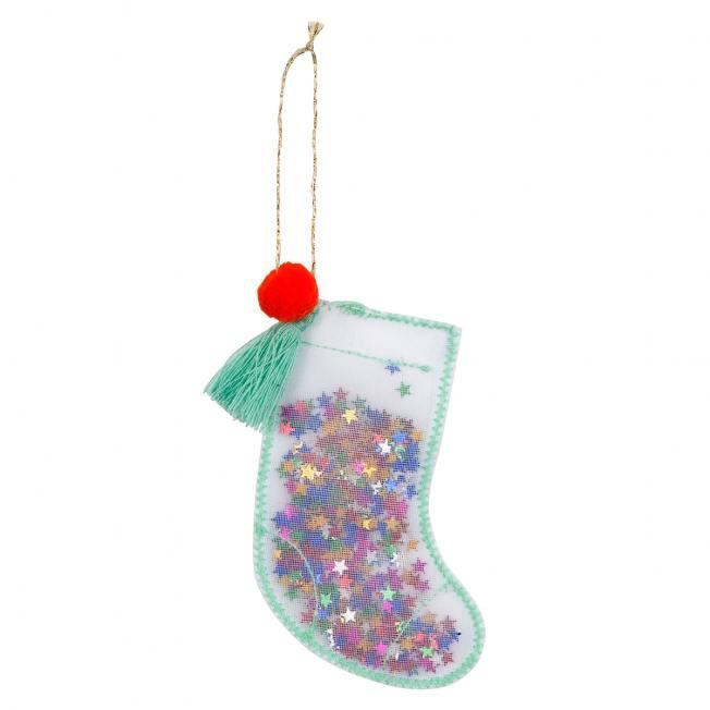 meri meri christbaumschmuck anhaenger weihnachts strumpf socke stocking shaker wunderschoen-gemacht