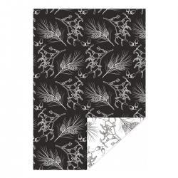 jurianne matter geschenkpapier winter botanical zweige zapfen eicheln schwarz weiss wunderschoen-gemacht