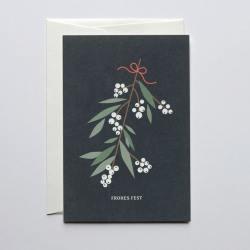 haferkorn & sauerbrey grusskarten mistelzweig frohes fest wunderschoen-gemacht