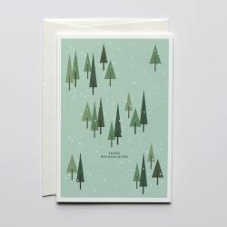 haferkorn & sauerbrey grusskarten weihnachtswald schnee frohe weihnachten wunderschoen-gemacht