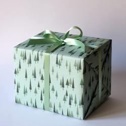 haferkorn sauerbrey geschenkpapiere snowy forest weihnachtswald baeume schnee wunderschoen-gemacht
