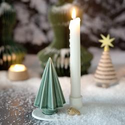 dottir kerzenhalter winter stories tree mit tannenbaum gruen goldener zapfen wunderschoen-gemacht