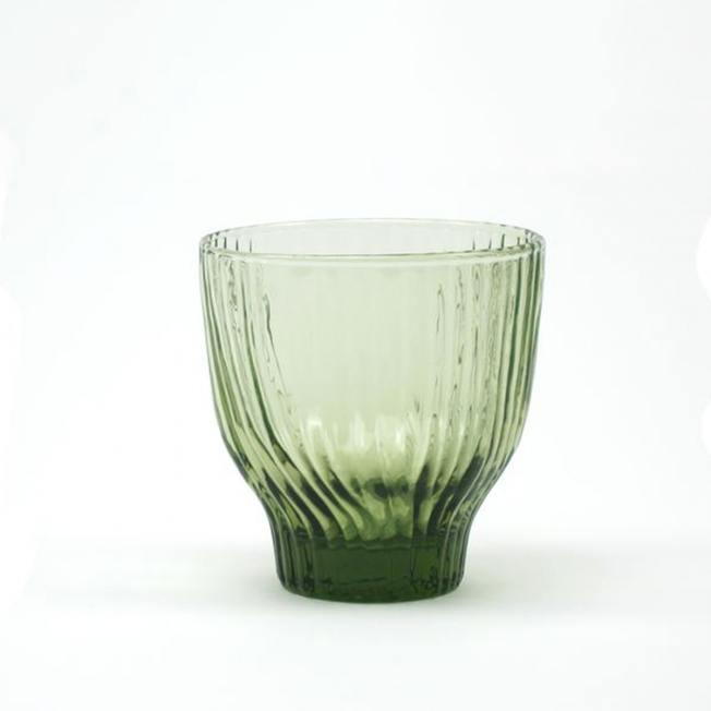 kinta trinkglas amnis gruen wellenmuster wunderschoen-gemacht