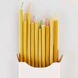 ovo things duenne lange bienenwachskerzen farbige bunte dochte wunderschoen-gemacht